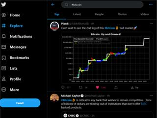 Twitter (#Bitcoin)