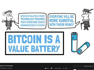 Bitcoin: Orange is the new green