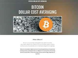 Bitcoin Dollar Cost Averaging
