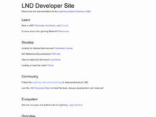 LND Developer Site