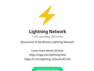 Lightning Network on Telegram