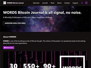 WORDS Bitcoin Journal