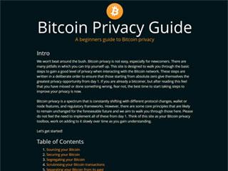 Bitcoin Privacy Guide